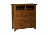 Distressed Chestnut Outback TV Chest - Hillsdale