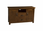 Distressed Chestnut Outback TV Console - Hillsdale