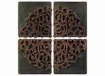 Divided Medallion Wall Art (Set of 4) - IMAX - 1257-4