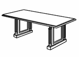 DMI Office 96 Inch Rectangular Conference Table - Traditional Office Furniture - 7990-94