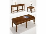 DMI Office Antigua Occasional Table Set in West Indies Cherry Finish
