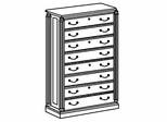 DMI Office Four Drawer Lateral File - Traditional Office Furniture - 7990-17