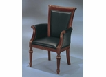 DMI Office High Back Guest Chair in Black Leather - Executive Office Furniture / Home Office Furniture - 7302-821