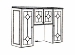 DMI Office Hutch with Wooden Doors 7376-63
