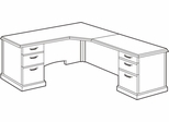 DMI Office L-Shaped CPU Corner Unit with Right Return - Transitional Office Furniture - 7130-77
