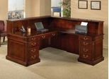 DMI Office L-Shaped Reception Desk with Left Return - Traditional Office Furniture - 7990-67