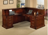 DMI Office L-Shaped Reception Desk with Right Return - Traditional Office Furniture - 7990-66