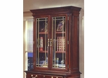 DMI Office Overhead Storage with Leaded Glass Doors - Traditional Office Furniture - 7990-42