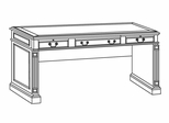 DMI Office Table Desk - Executive Office Furniture / Home Office Furniture - 7990-88