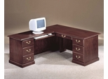 DMI Office Traditional 66 Inch Executive L-Shaped Desk with Left Return - 7462-49