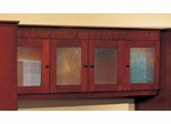 DMI Office Wall Mounted Hutch with Crackle Glass Door Panels - Executive Office Furniture / Home Office Furniture - 7302-403