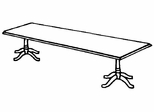 DMI Traditional Office 120 Inch Rectangular Conference Table - 7350-98