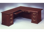 DMI Traditional Office 72 Inch Executive L-Shaped Desk with Left Return -7350-56