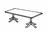 DMI Traditional Office 72 Inch Rectangular Conference Table - 7350-96