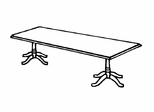 DMI Traditional Office 96 Inch Rectangular Conference Table - 7350-97