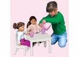 Doll Table and Chair Set - White - Guidecraft - G98122