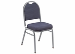 Dome Fabric Padded Stack Chair with Pattern - National Public Seating - 9260 - Set of 2