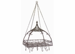 Domed Pot Rack with Hooks - IMAX - 7784