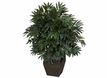 Double Bamboo Palm with Decorative Planter Silk Plant - Nearly Natural - 6718