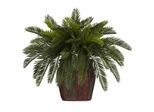 Double Cycas with Vase Silk Plant - Nearly Natural - 6658