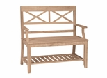 Double X-Back Bench - BE-1