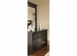 Dresser and Mirror Set in Ebony - South Shore Furniture - 3177-DM