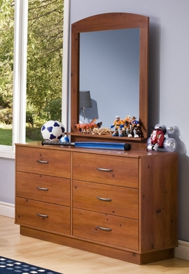 Dresser and Mirror Set in Sunny Pine - South Shore Furniture - 3342-DM