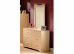 Dresser and Mirror Set - Triple Dresser and Mirror Set in Natural Maple - South Shore Furniture - 3113-DM