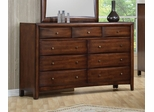 Dresser - Hillary Dresser in Warm Brown - Coaster - 200643