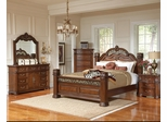 DuBarry 5PC Queen Bedroom Set with  Reeded Pillar Accents - 201821Q