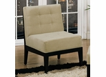 Dupont 203 Armless Chair in Taupe Microfiber - Armen Living - LCDU203SIMFTO