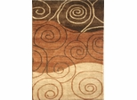 Eastern Weavers Adeline Rust Modern Hand Tufted Rug