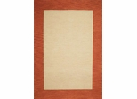 Eastern Weavers Henley Cardinal Terra Cotta Wool Border Rug