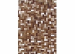 Eastern Weavers Kyle Cowhide Leather Brown Ivory Rug