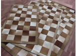 Eastern Weavers Kyle Hand Crafted Cowhide Brown Ivory Rug
