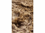 Eastern Weavers Silk Shag Hand Woven Rug - Brown Beige Mix
