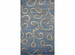 Eastern Weavers Soho Blue Gold Tibetan Wool Rug