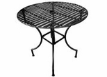 "Easy to Assemble Iron Patio Table - Round Black 3"" with Umbrella Hole - Pangaea Home and Garden Furniture - FM-C4851-K"