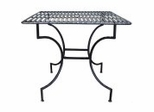 "Easy to Assemble Iron Patio Table - Square Pewter 3"" with Umbrella Hole - Pangaea Home and Garden Furniture - FM-C4850"