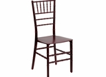 Elegance Mahogany Resin Stacking Chiavari Chair - BH-MAH-RESIN-GG