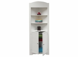 Ellsworth Tall Corner Etagere in White - RiverRidge - 06-027
