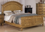 Emily Queen Panel Bed in Oak - 202571Q