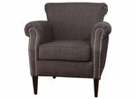 Emma Club Chair with Nailhead Accents - EMMA-CH-CHARCOAL