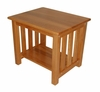 End Table in Medium Oak - Oakridge - 38-1047-008
