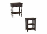 End Table Set in Chocolate - Shaker Cottage - Alaterre