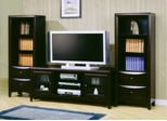 Entertainment Center - 3 Piece Set in Cappuccino - Coaster