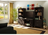 Entertainment Center Set 2 in Black/Onyx and Charcoal - Cosmos - South Shore Furniture - 3127605-652-2