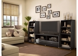 Entertainment Center Set 2 in Solid Black - South Shore Furniture - 4270-ESET-192