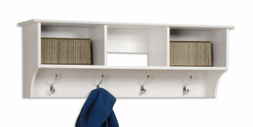 Entryway Cubbie Shelf in White - Prepac Furniture - WEC-4816