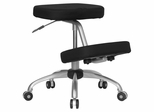 Ergonomic Office Chair with Metal Frame and Black Fabric - WL-1425-GG